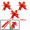 10 Pcs Gift Wrap Bowtie Designed DIY Pull Bow Ribbons Red for Wed...
