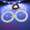 Car Auto Motorcycle 1210 SMD 15 LED Angel Eyes Ring Light White 6...