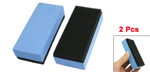 Blue Black Double Sides Coated Washing Pads for Car Auto 2 Pcs