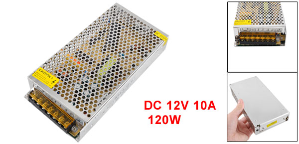 DC 12V 10A 120W Metal Housing 7 Pins Switching Power Supply Converter S-120-12