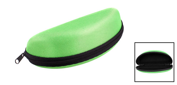 Light Green Faux Flannel Dust Protective Zipper Case Box for Eyeglasses Glasses