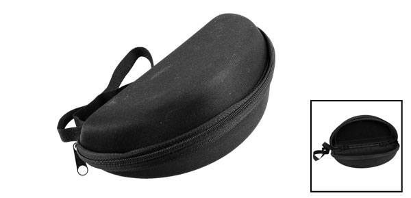 Spectacles Glasses Eyeglasses Oval Shaped Anti Dust Faux Flannel Case Box Black