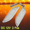 2 Pcs Orange LED Front Fender Bumper Side Marker Light Lamp for V...