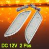 2 Pcs Orange LED Front Fender Bumper Side Marker Light Lamp for V...