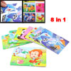 Child Playing Animals Kingdom Print DIY Learning Paper Puzzle Toy...