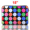 "15"" 15.4"" 15.6"" Dot Pattern Notebook Laptop Sleeve Bag Case Cover..."