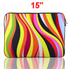 "15"" 15.4\"" 15.6\"" Colorful Stripe Print Notebook Laptop Sleeve B..."
