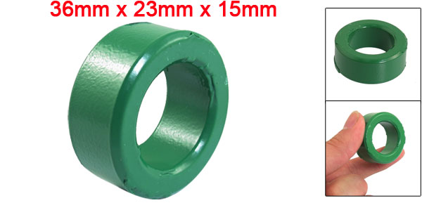 36mm x 23mm x 15mm Green Iron Core Power Inductor Ferrite Ring