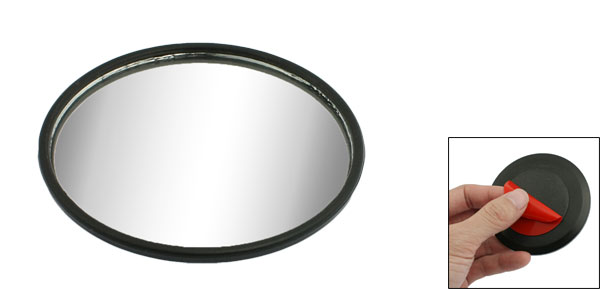 X Autohaux Car Round Convex Wide Angle Rear View Blind Spot Mirror Black 3