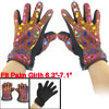 Geometric Pattern Nonslip Palm Design Winter Gloves Brick Red for...