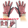 Woman Black Kintted Rim Rhombus Printed Winter Warm Gloves Red