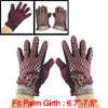 Ladies Argyle Pattern Bowknot Decor Fuchsia Lining Warm Gloves Da...