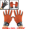 Stripes Pattern Full Finger Winter Gloves Orange Black for Woman