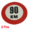 2 x Self Adhesive 90 KM Auto Car Rear Window Reflective Sticker S...