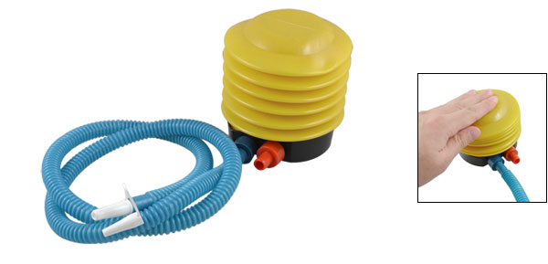 Flexible Pipe Balloons Swimming Ring Foot Air Pump Yellow Blue