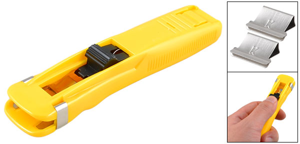 Portable Yellow Plastic Shell Alternative Fast Clam Clip Dispenser w Clips