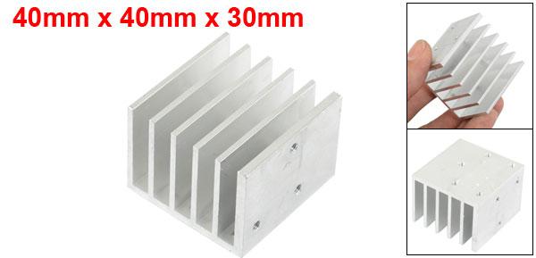 Aluminium 40mm x 40mm x 30mm Heatsink Cooling Cooler Fin