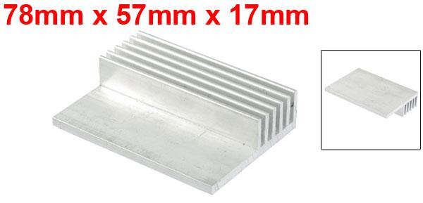 78mm x 57mm x 17mm Heatsink Heat Diffuse Aluminium Cooling Fin