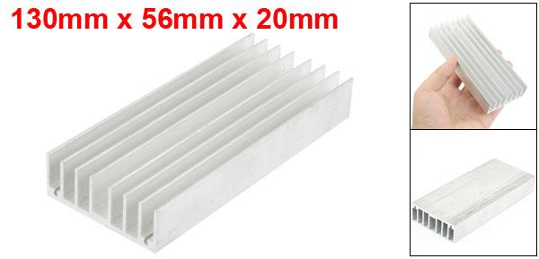130mm x 56mm x 20mm Heatsink Heat Diffuse Aluminium Cooling Fin
