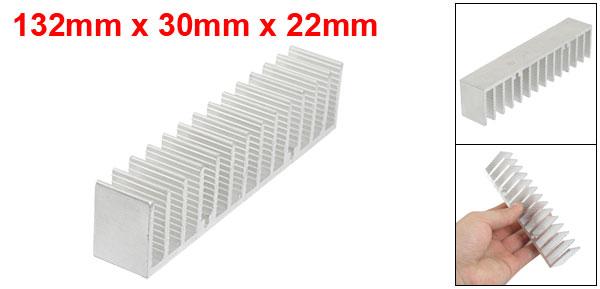 132mm x 30mm x 22mm Heatsink Heat Diffuse Aluminium Cooling Fin