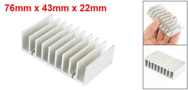 76mm x 43mm x 22mm Heatsink Heat Dissipate Cooling Cooler Fin