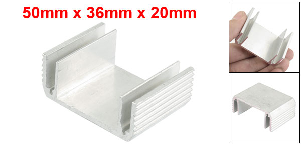 50mm x 36mm x 20mm Dual Side Aluminium Heatsink Cooling Fin