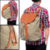 Mens Khaki Drawstring Opening Design Casual Two Shoulder Strap Ba...