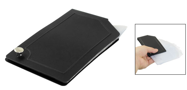 Black Aluminum Housing Flexible Business Credit Card Pouch Holder