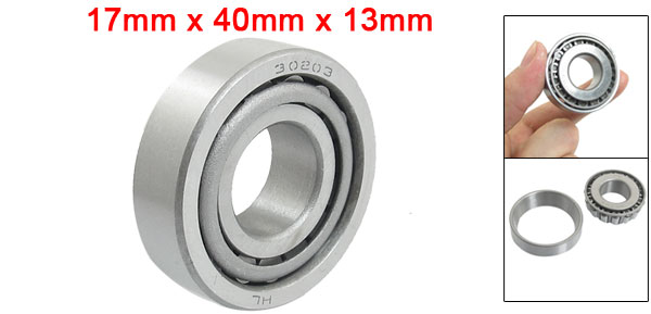 30203 Steering Head Set Tapered Roller Bearings 17mm x 40mm x 13mm Silver Tone