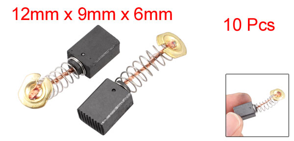 10 Pcs Electric Motor Spring Coil Carbon Brushes 15/32