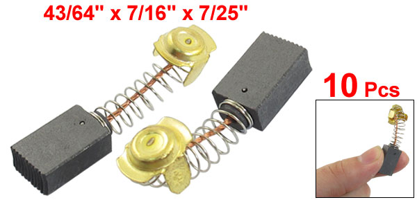 10 Pcs Electric Motor Spring Coil Carbon Brushes 43/64