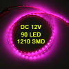 Car Truck 90 LED 1210 3528 SMD Decorative Flexible Light Bar Pink 90cm
