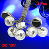 2 Pcs Blue 8 LED Marker Truck Car Under Body Door Side Light DC 1...