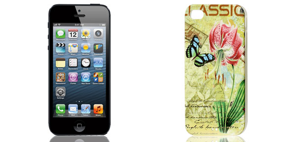 Vintage Style Colorful Flower Butterfly Hard Back Case Cover for iPhone 4 4G 4S 4GS Gen