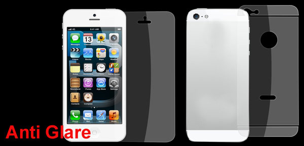Anti-glare Clear Front Screen Back Cover Film Assembly for Apple iPhone 5 5G