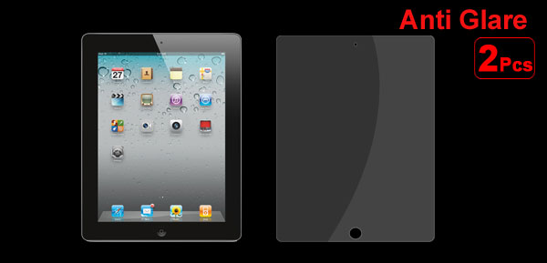 2 Pcs Clear Anti Glare Front Screen Protector Shield Film for Apple iPad 2 2nd 3 3rd