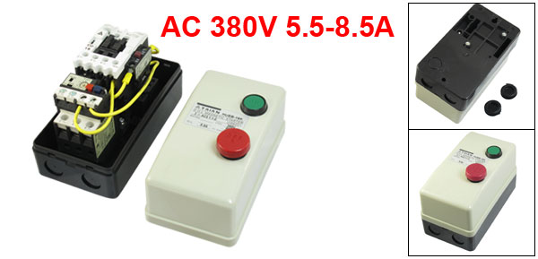 AC 380V Coil 5.5-8.5A 3-Pole Push Button Control Motor Magnetic Starter