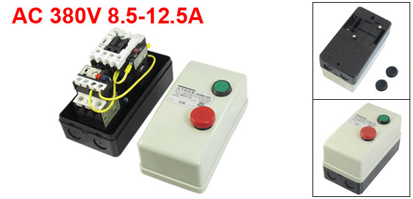 AC 380V Coil 8.5-12.5A 3-Pole Push Button Control Motor Magnetic Starter