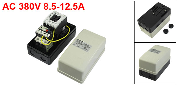 380V Coil AC Contactor 3 Pole Magnetic Starter Motor Control 8.5-12.5A