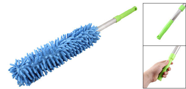 Furniture Book Telescoping Grip Blue Microfiber Sweeping Cleaning Brush Broom