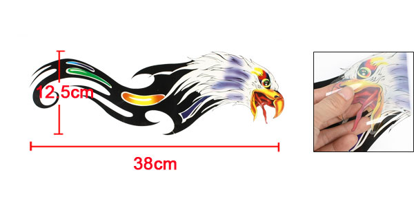 Colorful Eagle Pattern Decorative Car Window Wall Decal Sticker