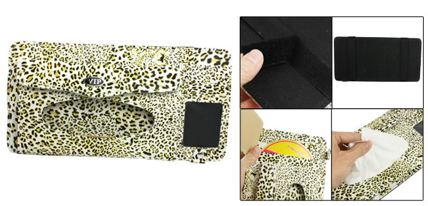 Colorful Leopard Pattern Multifunction Paper Tissue Box Card CD Holder Pouch