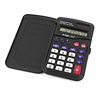 Office School 8 Digits LCD Display Mini Black Electronic Calculator