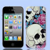 Skull Rose Flower Black Hard Back Case Cover for Apple iPhone 4 4...