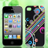 Multicolor Stripes Circle Pattern Hard Back Case Cover for Apple ...