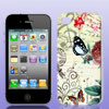 Flower Butterfly Music Note Hard Back Case Cover for iPhone 4 4G ...