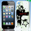Star Ink Splash Design White Hard Back Case Cover for iPhone 4 4G...