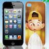Cartoon Boy Pattern Yellow Hard Back Case Cover for iPhone 4 4G 4...