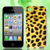 Leopard Pattern Yellow Hard Back Case Cover for Apple iPhone 4 4G...