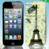 Dragonfly & Eiffel Tower Colorful Hard Back Case Cover for iPhone...